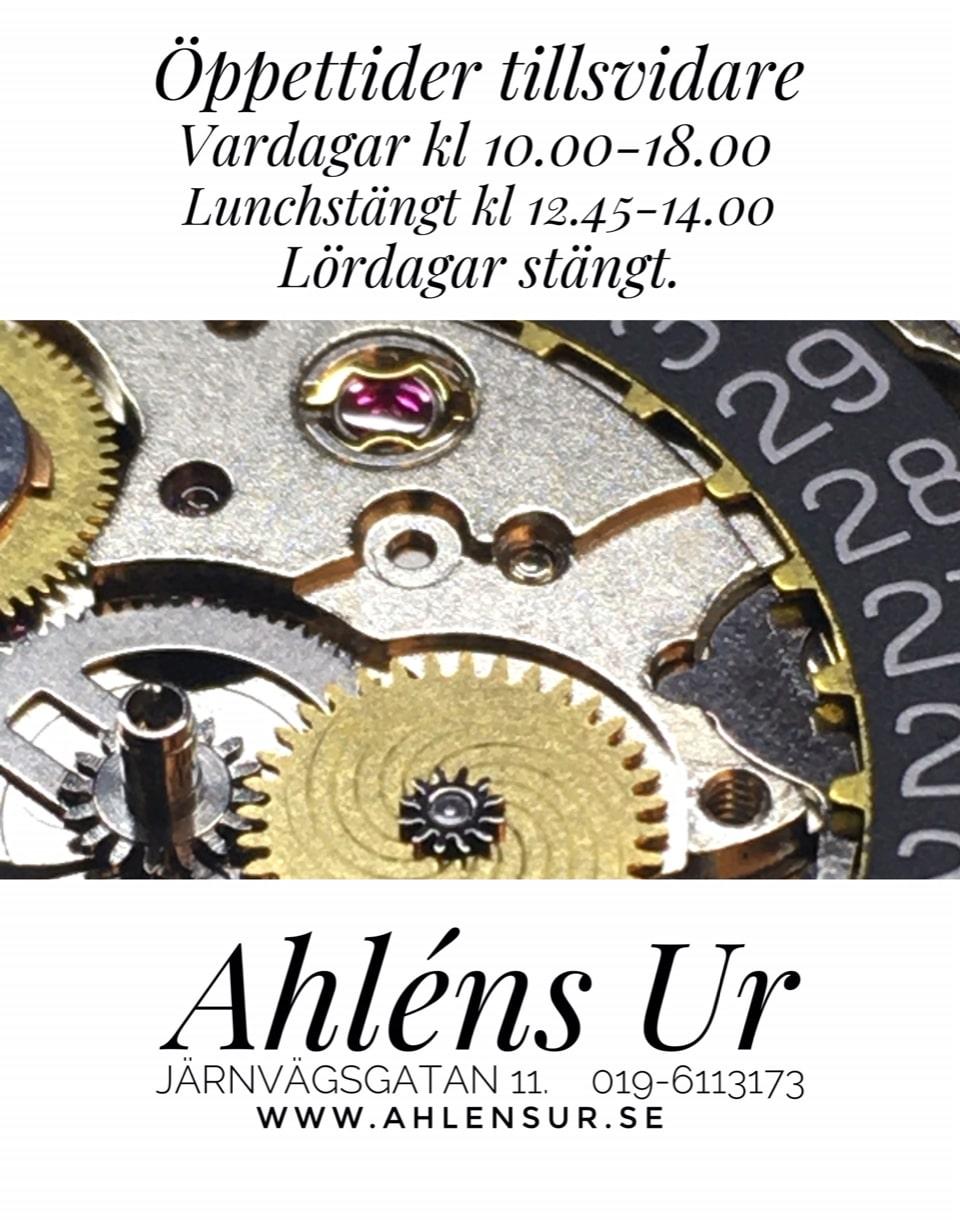 Nya öppettider för Ahléns Ur